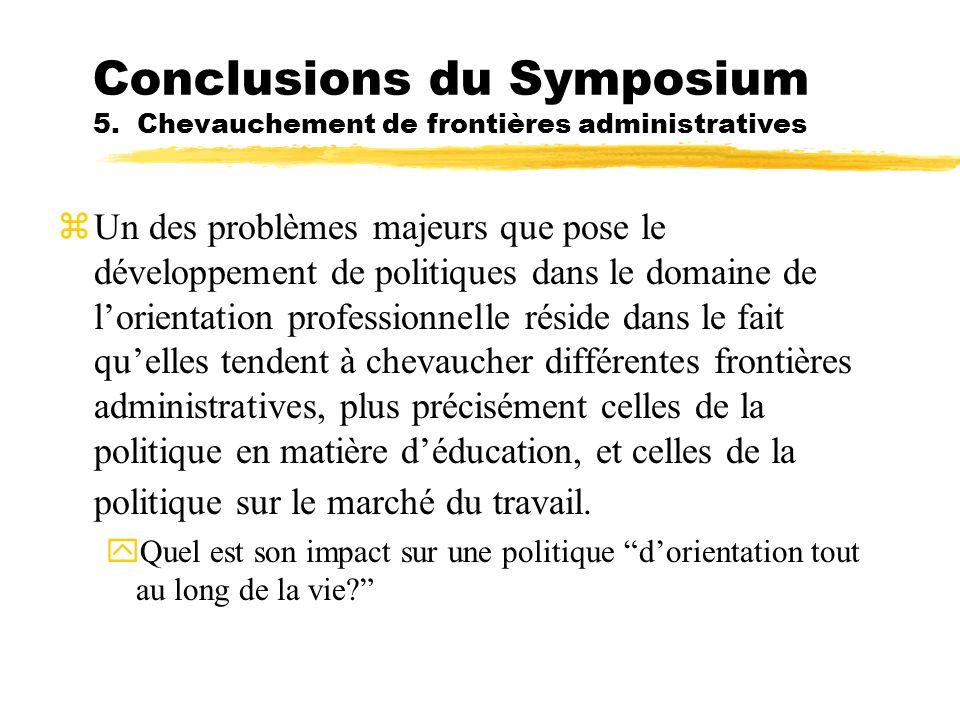 Conclusions du Symposium 5. Chevauchement de frontières administratives