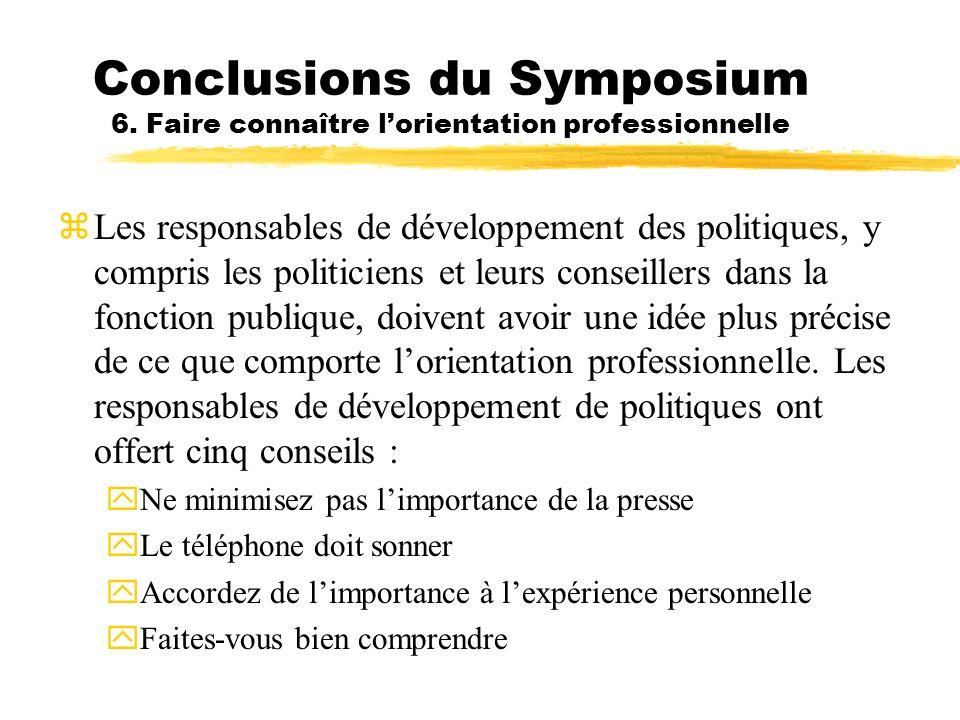 Conclusions du Symposium 6
