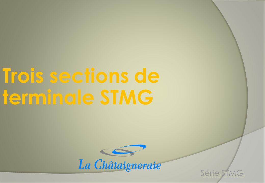 Trois sections de terminale STMG