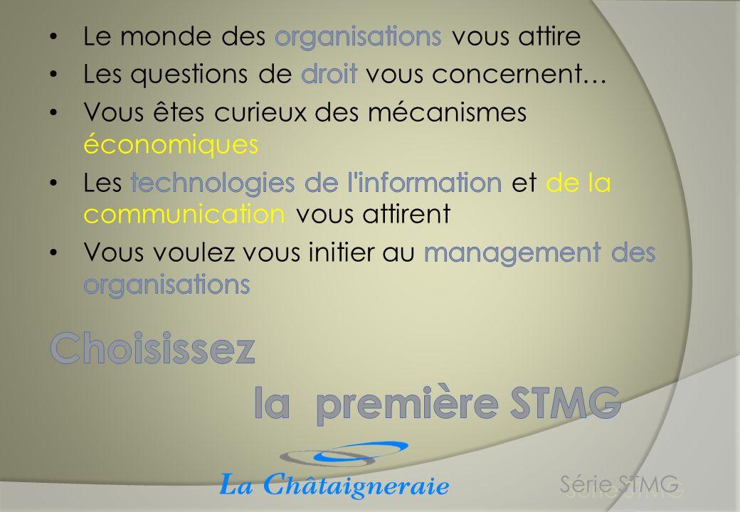 Choisissez la première STMG Le monde des organisations vous attire