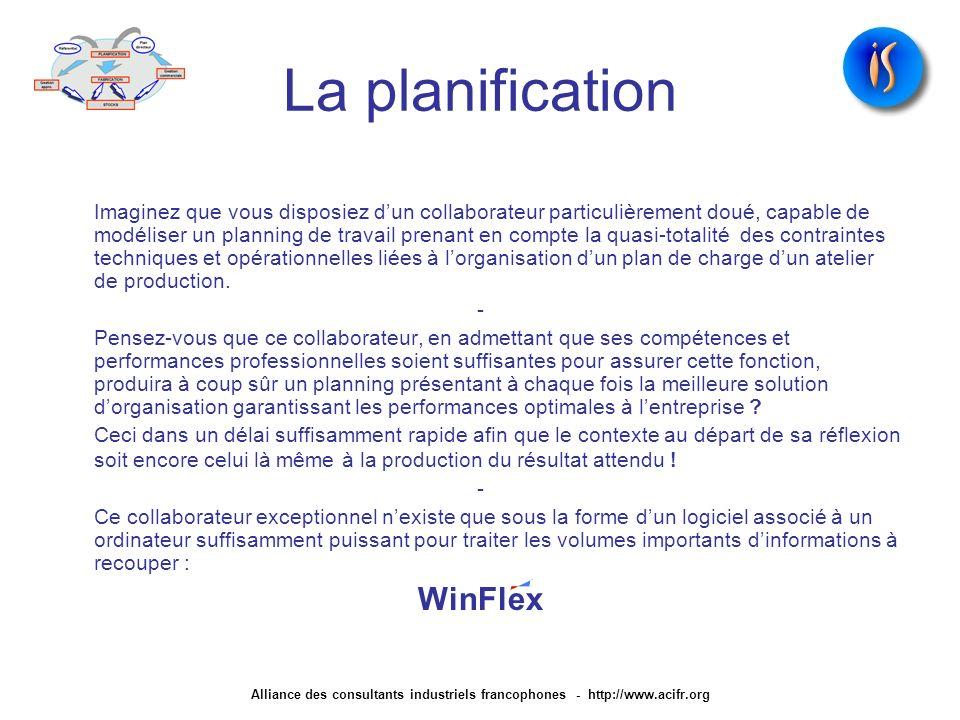 La planification WinFlex