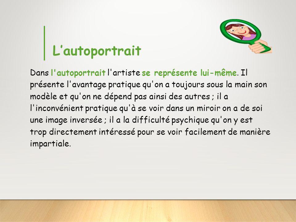Le portrait intermediate frames with faded pictures and for Autoportrait miroir
