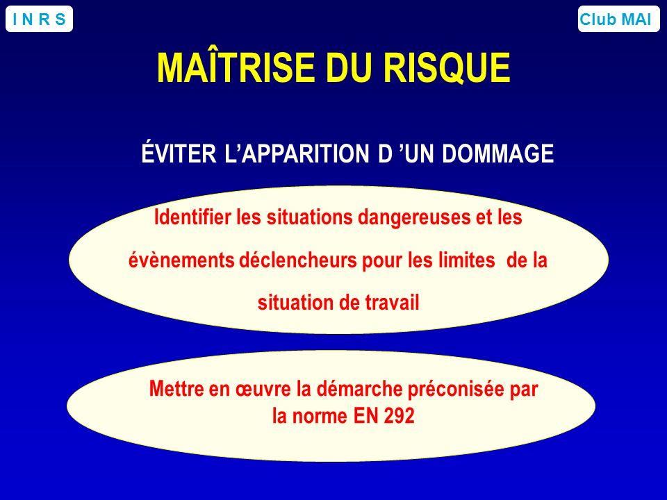 ÉVITER L'APPARITION D 'UN DOMMAGE