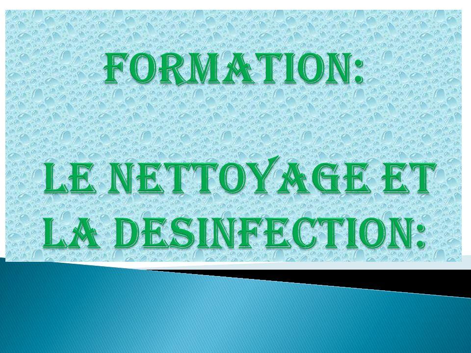 Formation le nettoyage et la desinfection ppt video - Plan de nettoyage et de desinfection cuisine ...