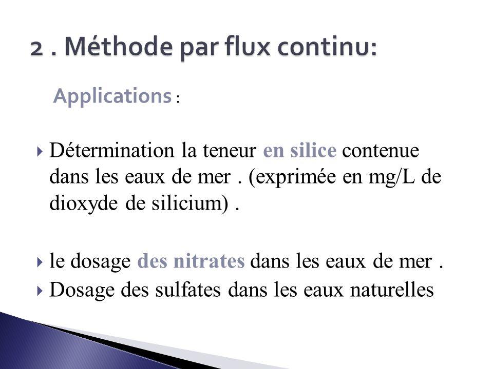 2 . Méthode par flux continu: