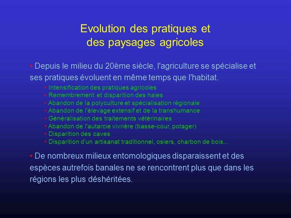 Evolution des pratiques et des paysages agricoles