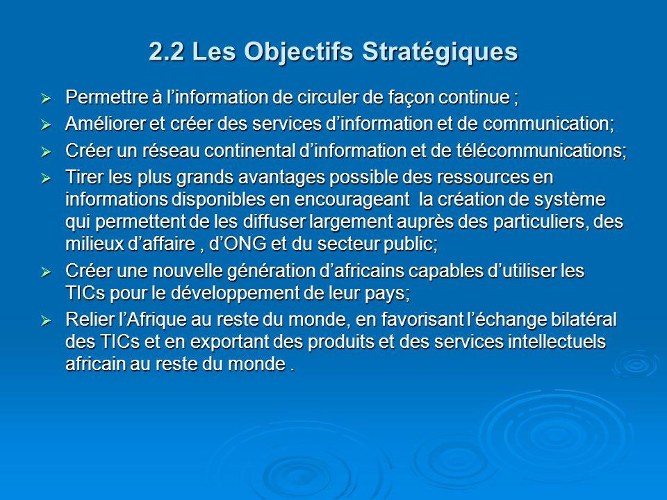 2.2 Les Objectifs Stratégiques