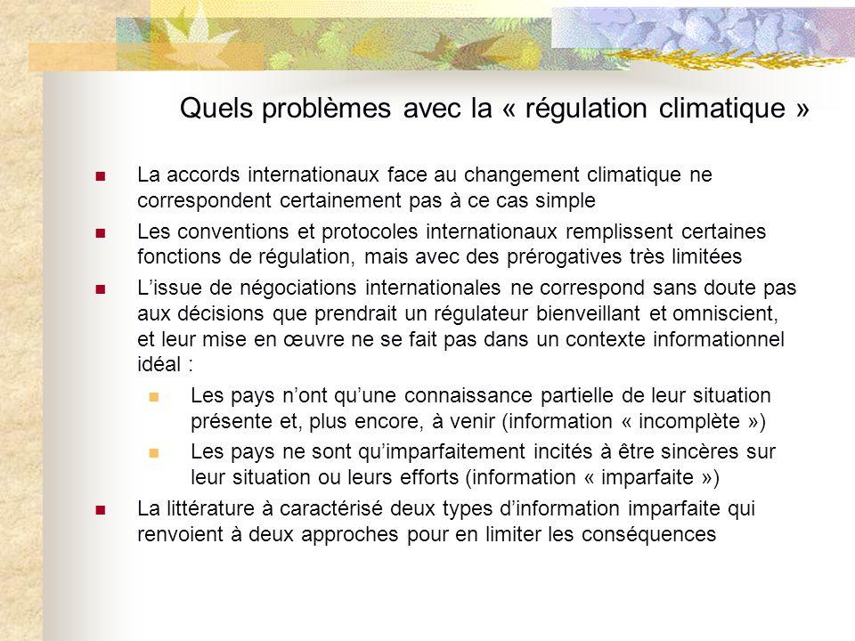 Quels problèmes avec la « régulation climatique »