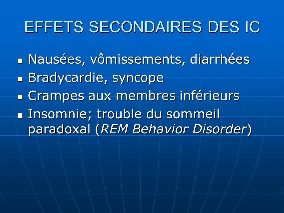 EFFETS SECONDAIRES DES IC