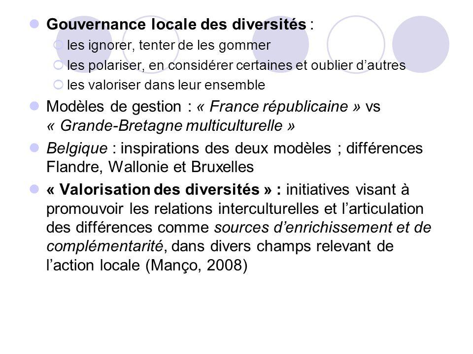 Gouvernance locale des diversités :