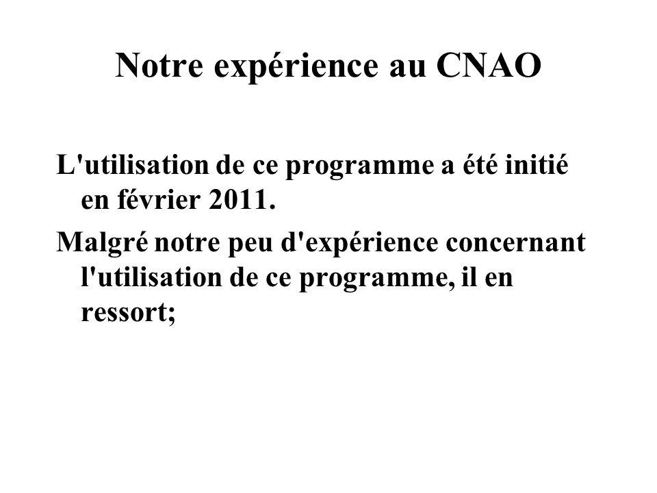 Notre expérience au CNAO