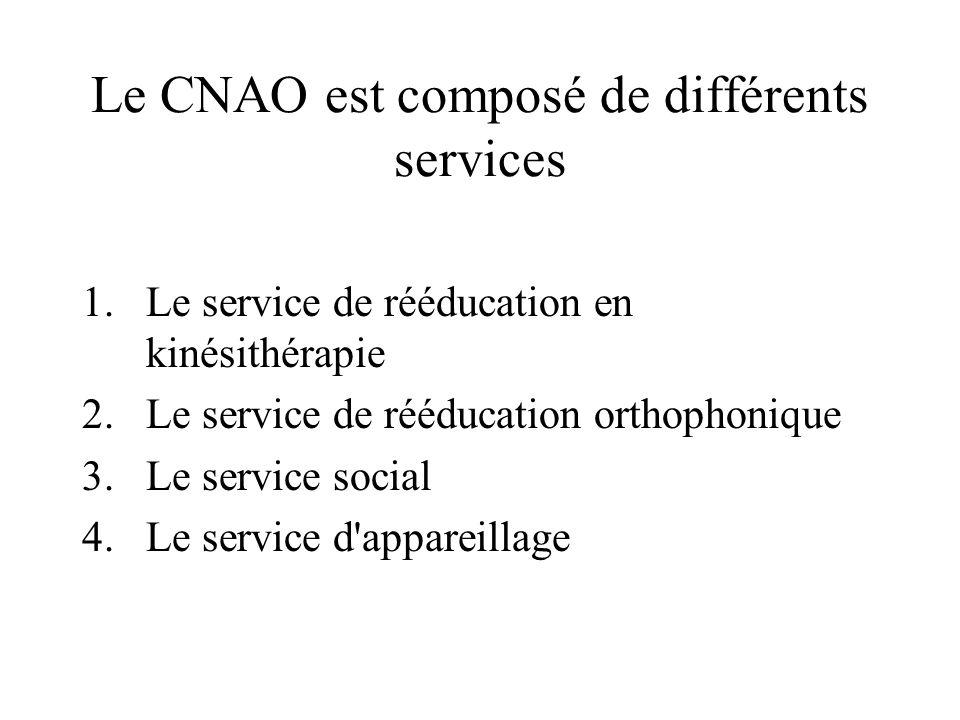 Le CNAO est composé de différents services
