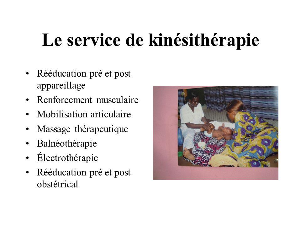 Le service de kinésithérapie
