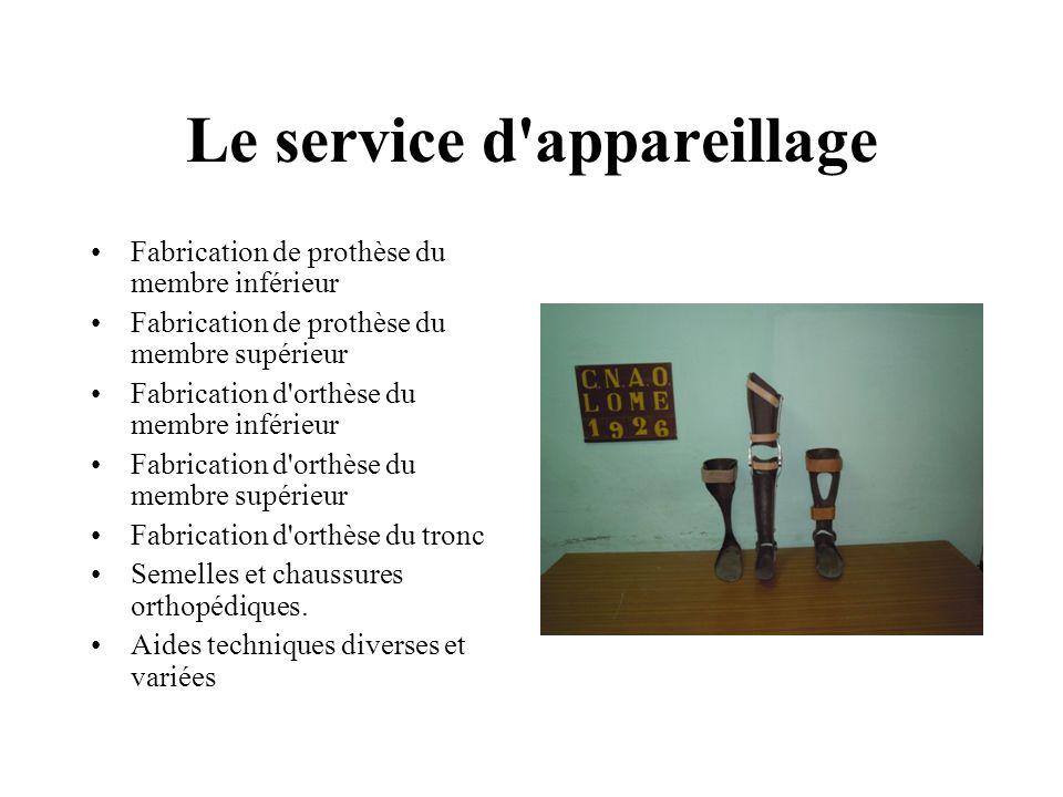 Le service d appareillage