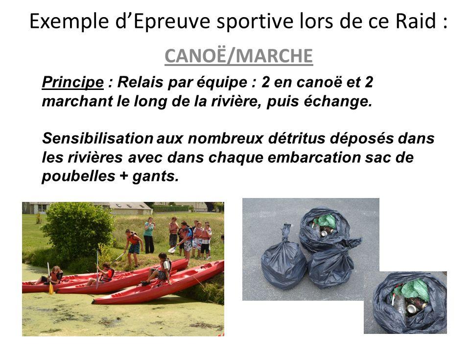 Exemple d'Epreuve sportive lors de ce Raid :