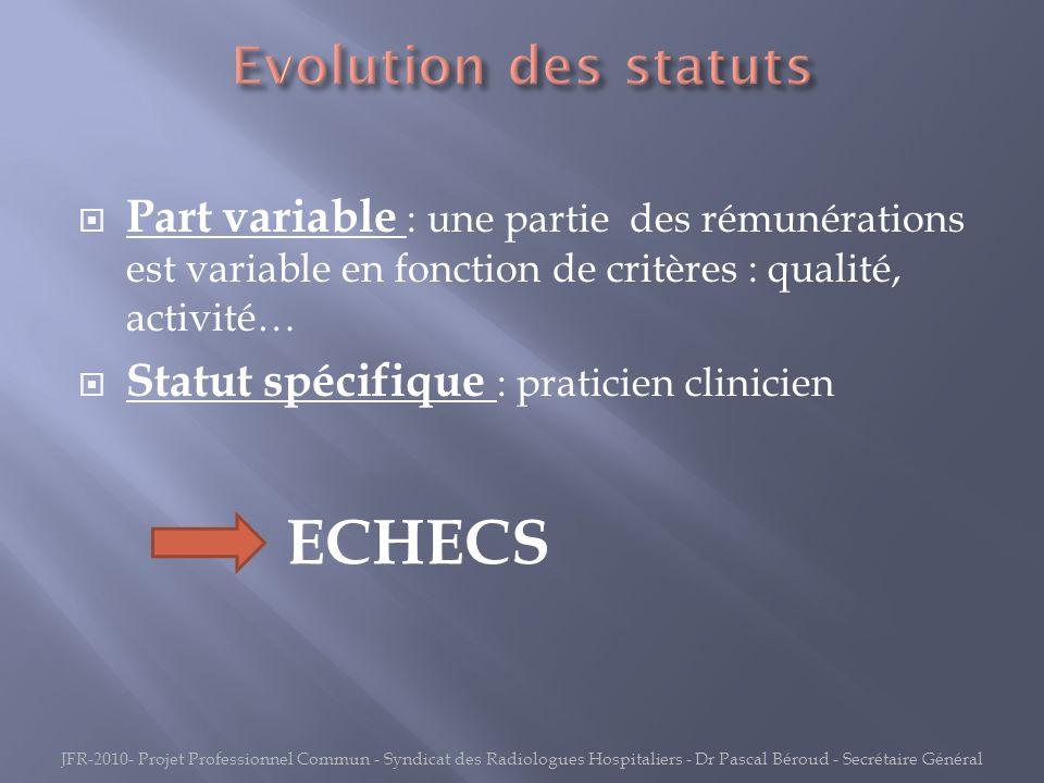 ECHECS Evolution des statuts