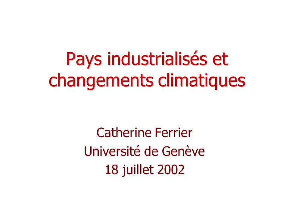 Pays industrialisés et changements climatiques