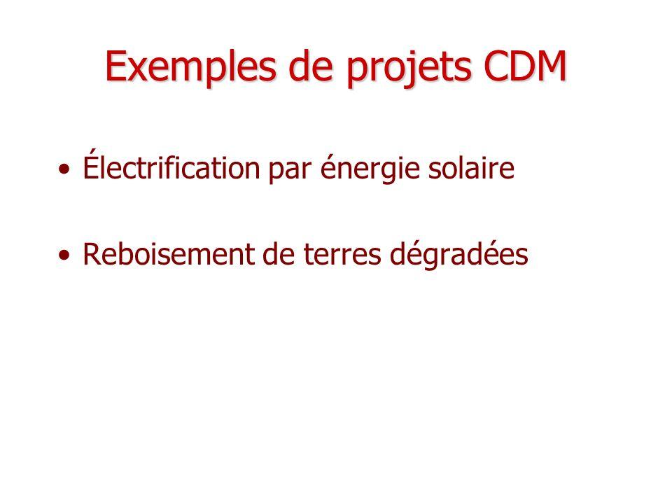 Exemples de projets CDM