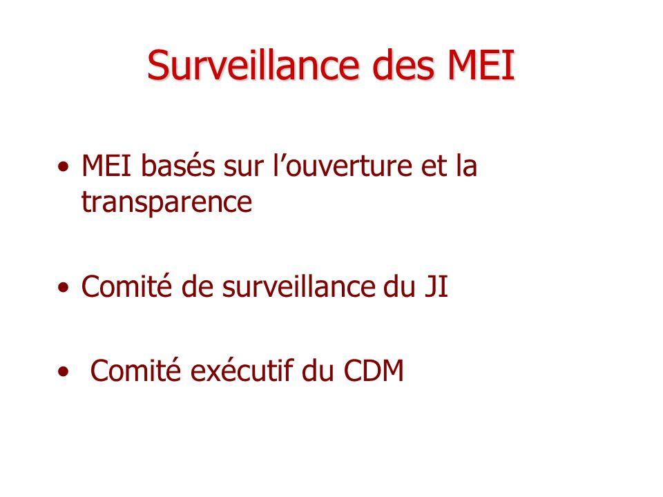 Surveillance des MEI MEI basés sur l'ouverture et la transparence
