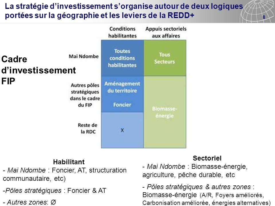 Cadre d'investissement FIP
