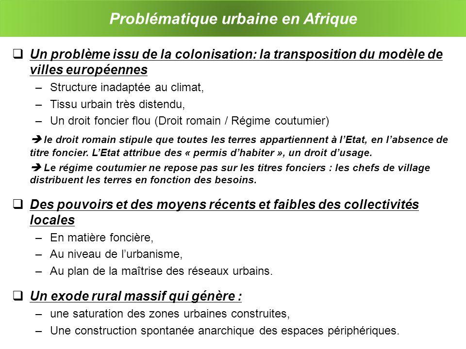 Problématique urbaine en Afrique