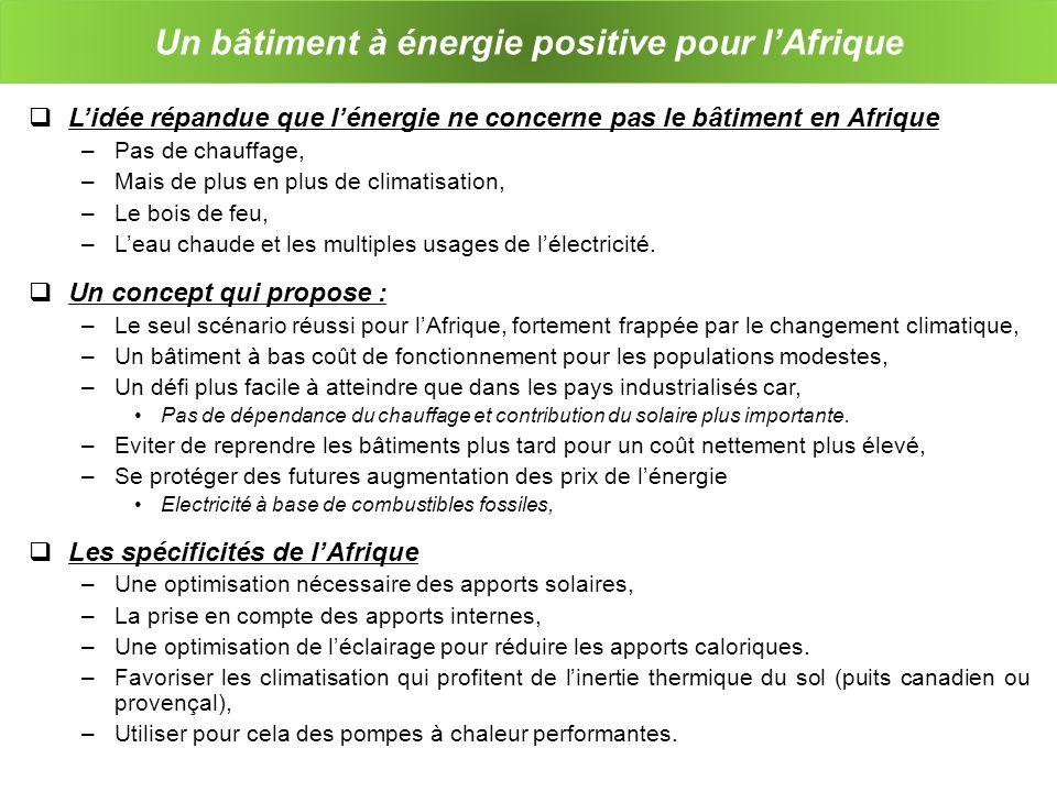 Un bâtiment à énergie positive pour l'Afrique