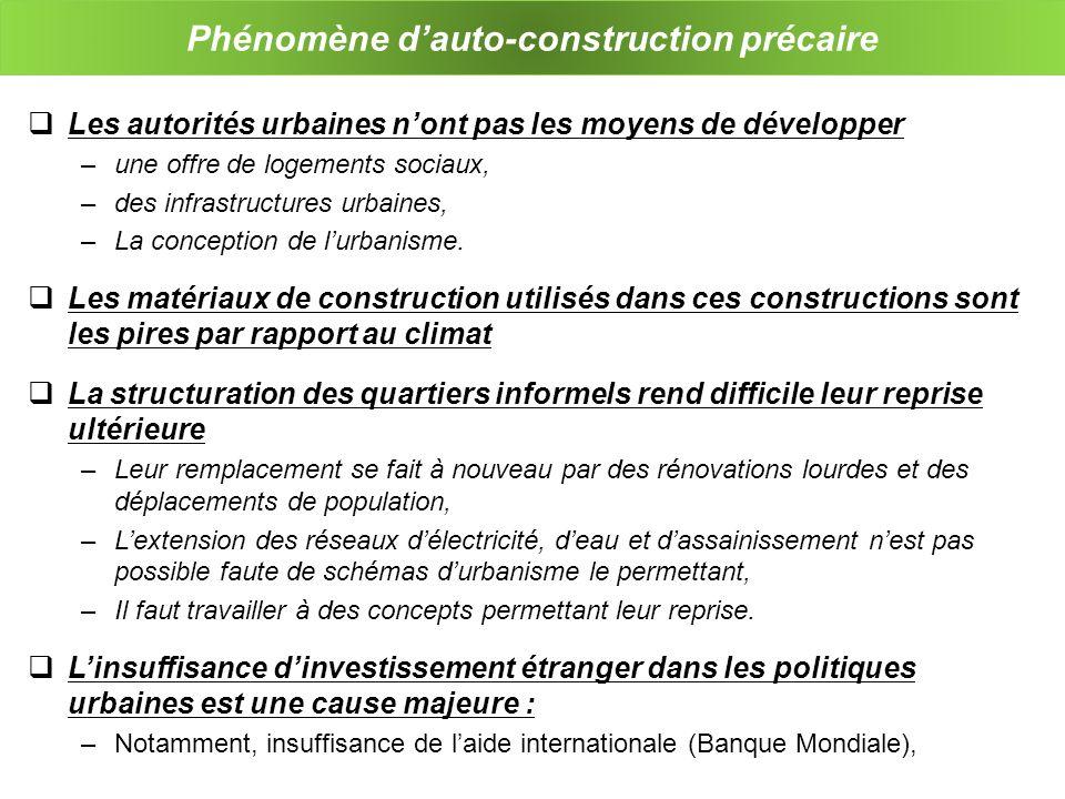 Phénomène d'auto-construction précaire