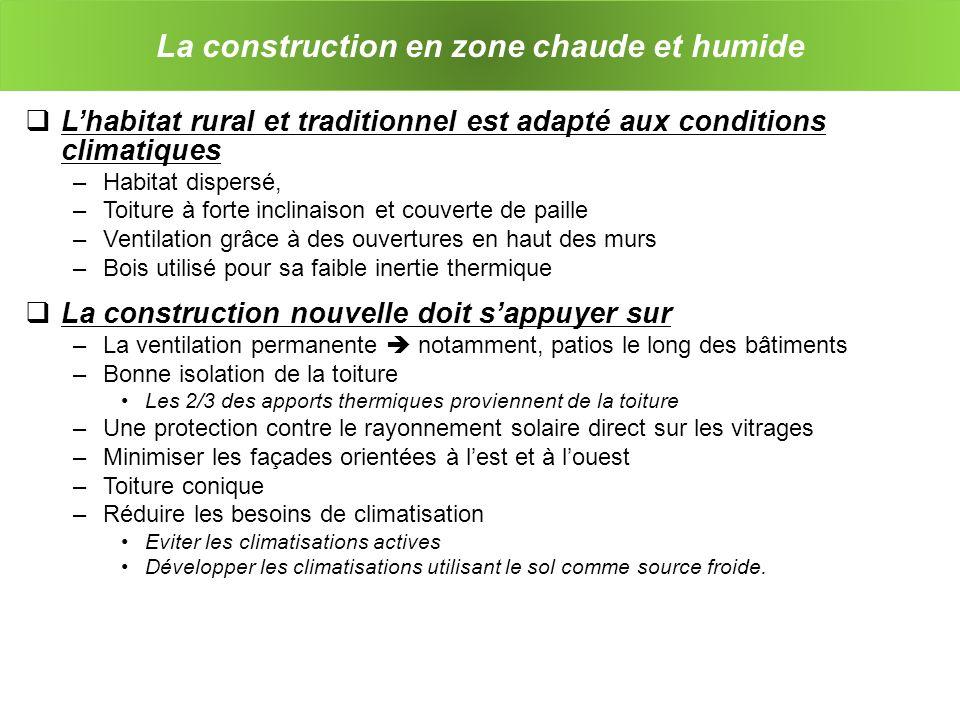 La construction en zone chaude et humide