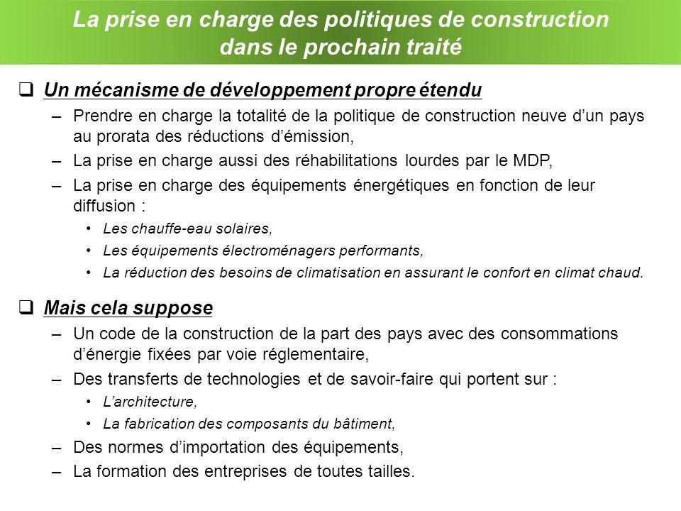 La prise en charge des politiques de construction dans le prochain traité