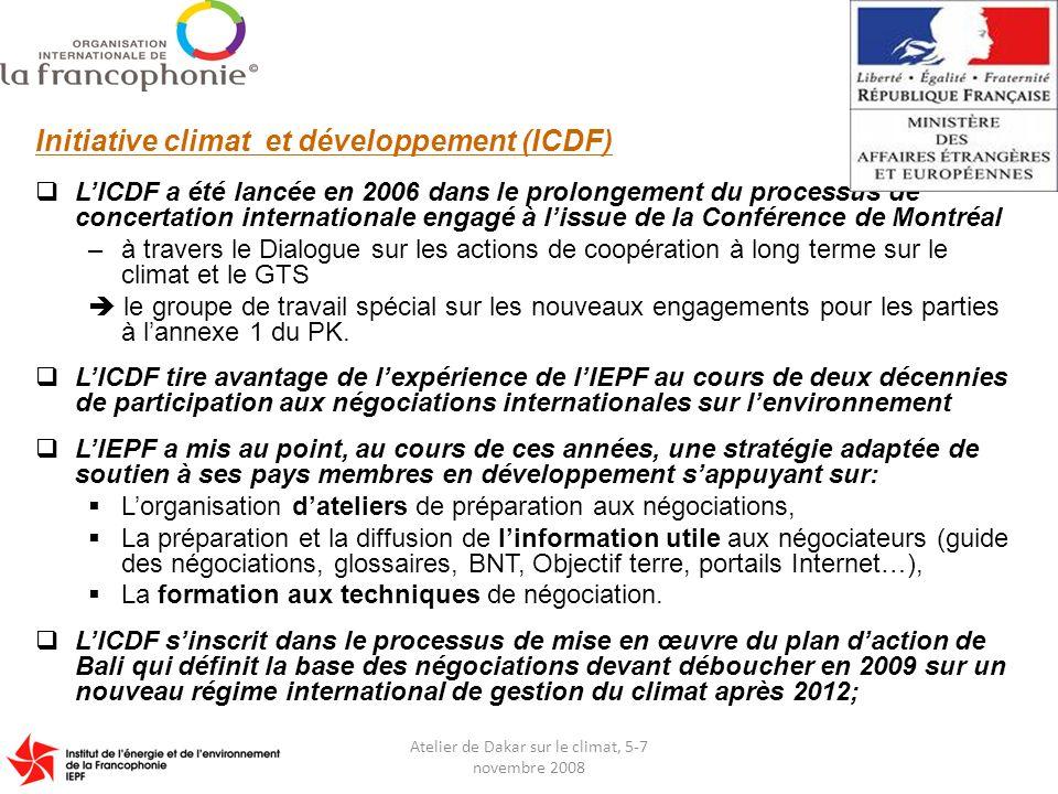 Atelier de Dakar sur le climat, 5-7 novembre 2008