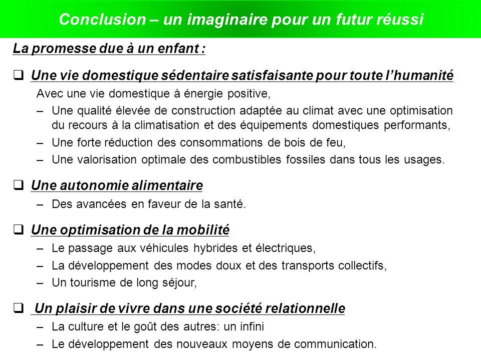 Conclusion – un imaginaire pour un futur réussi