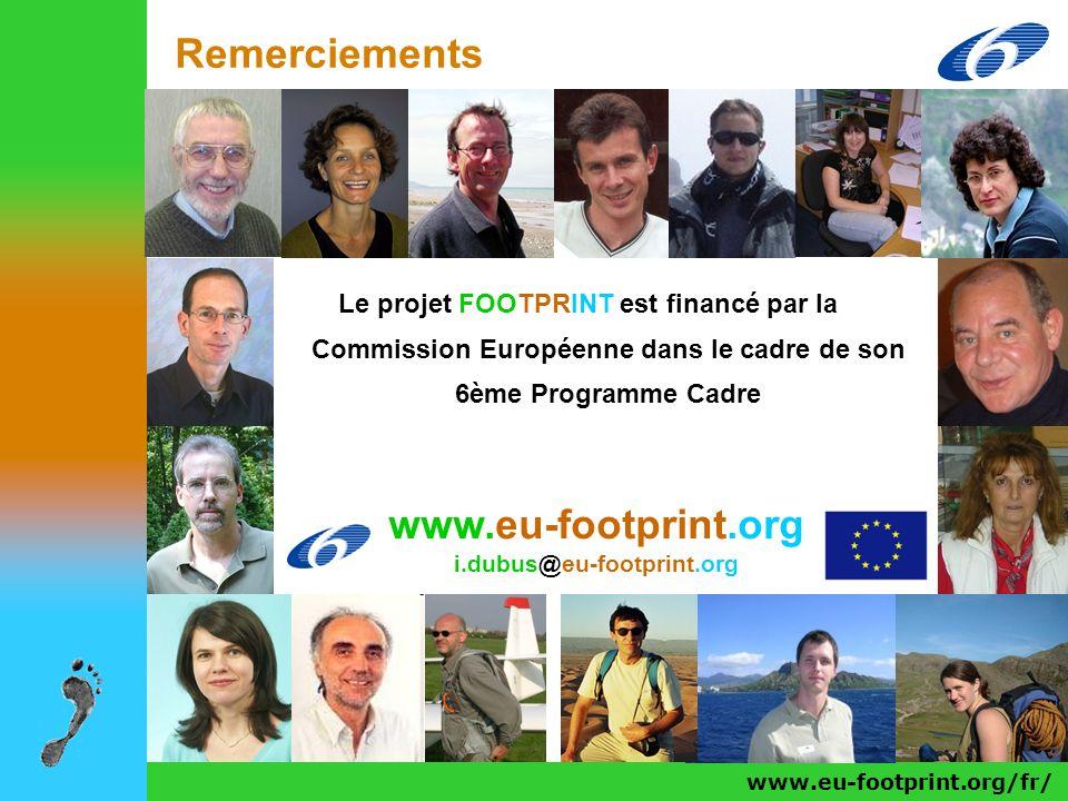 Remerciements www.eu-footprint.org