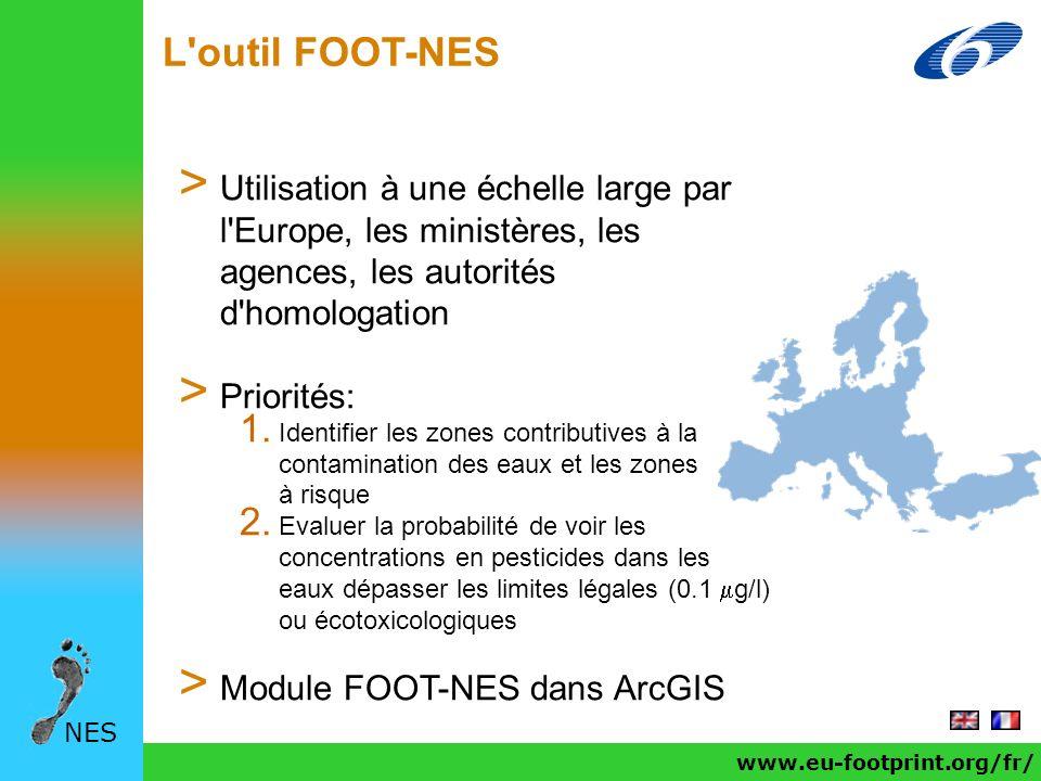 L outil FOOT-NES Utilisation à une échelle large par l Europe, les ministères, les agences, les autorités d homologation.