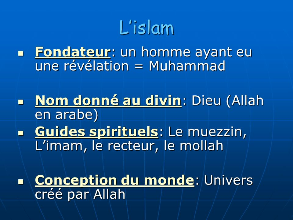 Rencontrer un homme dans l'islam
