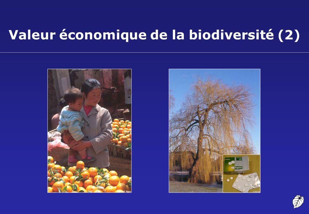 Valeur économique de la biodiversité (2)