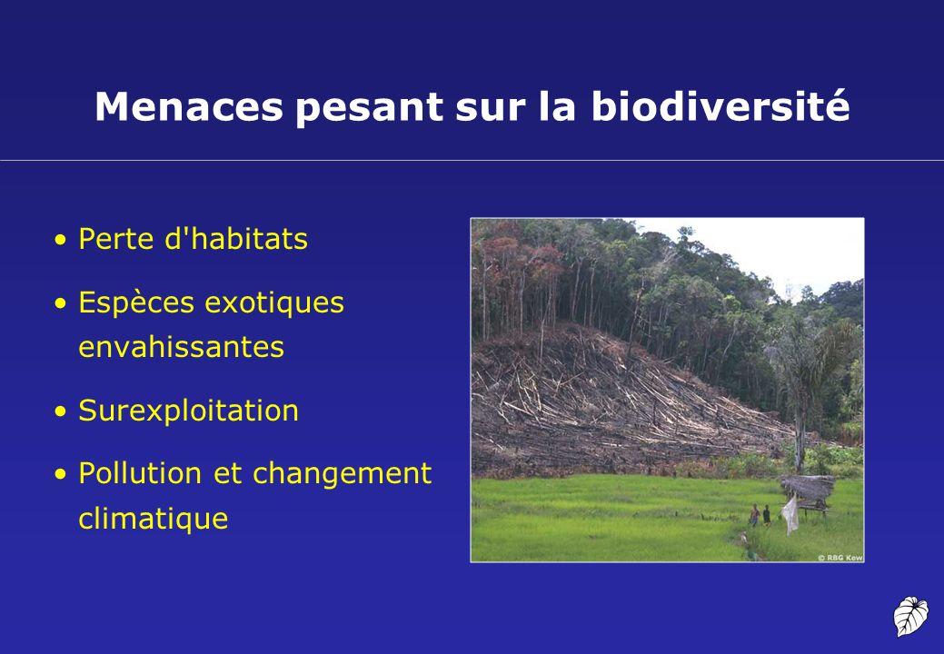 Menaces pesant sur la biodiversité