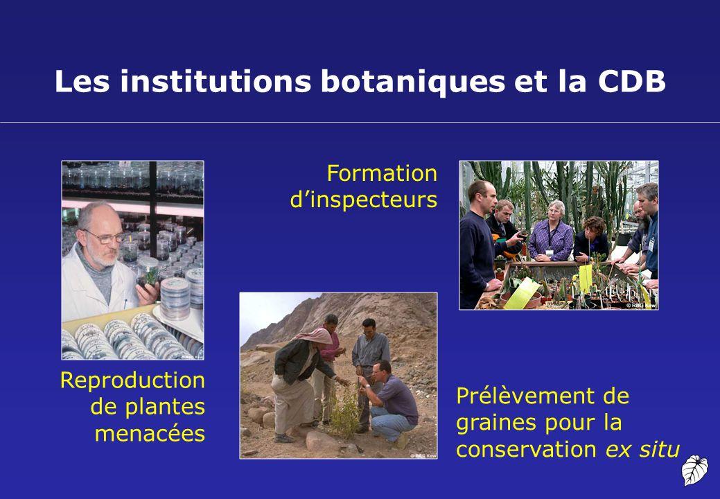 Les institutions botaniques et la CDB