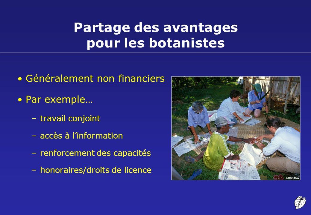 Partage des avantages pour les botanistes