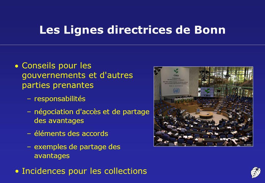 Les Lignes directrices de Bonn