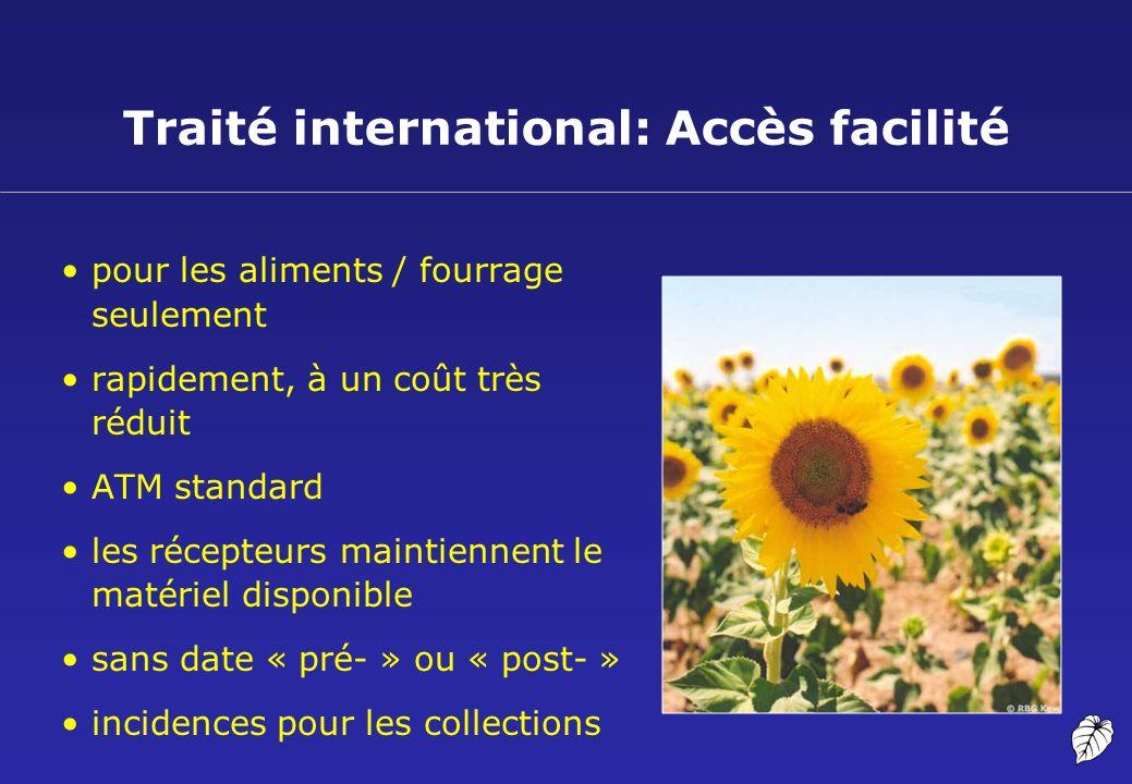 Traité international: Accès facilité