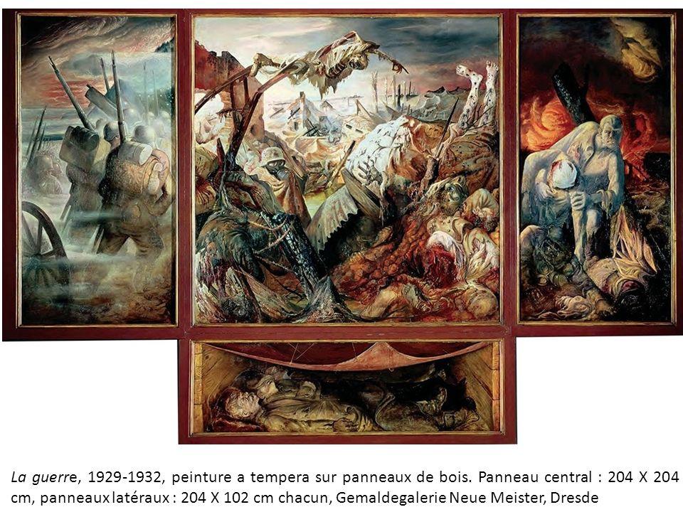 La Guerre, 1929 1932, Peinture A Tempera Sur Panneaux De Bois