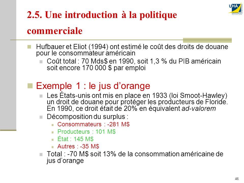 2.5. Une introduction à la politique commerciale