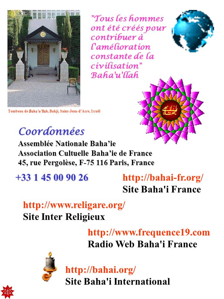 Site Baha i International http://www.frequence19.com