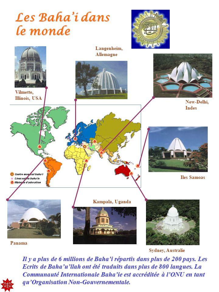 Les Baha'i dans le monde