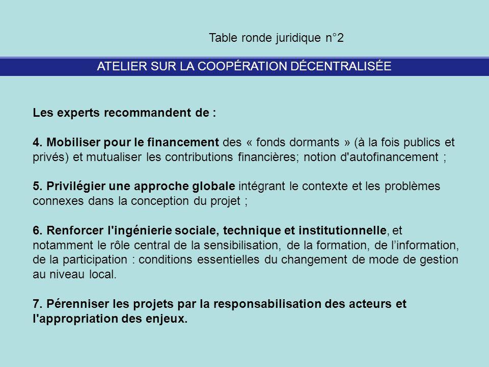 ATELIER SUR LA COOPÉRATION DÉCENTRALISÉE