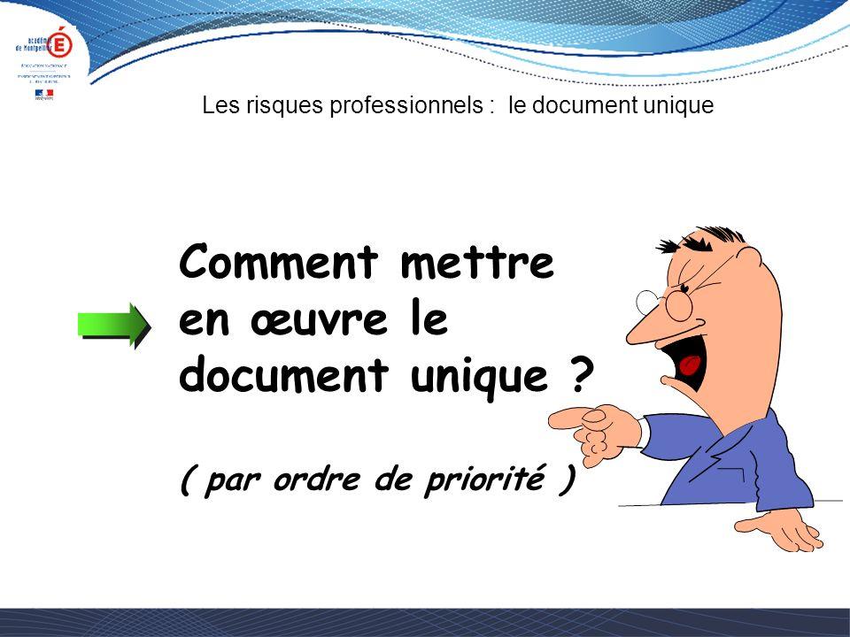 Comment mettre en œuvre le document unique