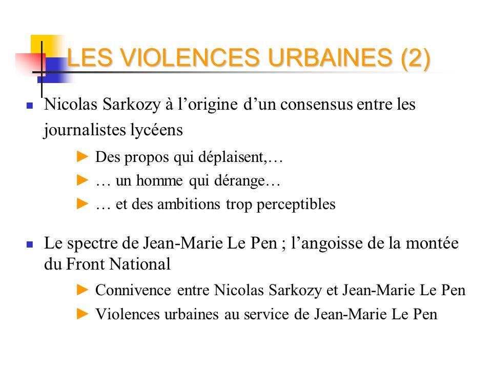 LES VIOLENCES URBAINES (2)