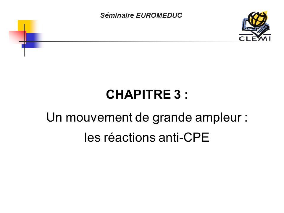 CHAPITRE 3 : Un mouvement de grande ampleur : les réactions anti-CPE