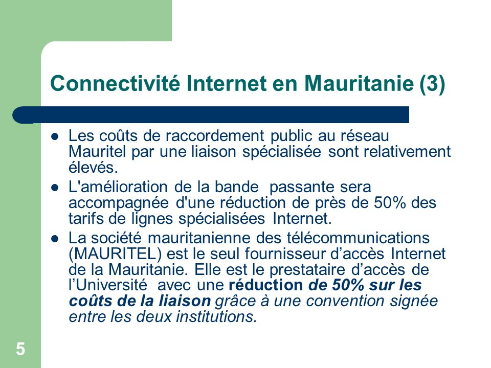 Connectivité Internet en Mauritanie (3)
