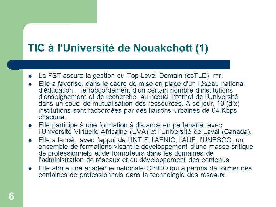 TIC à l Université de Nouakchott (1)